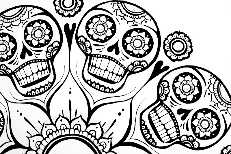 Sugar Skull Flower Finished title=