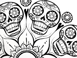 Adult Sugar Skull Coloring Pages Free Printables