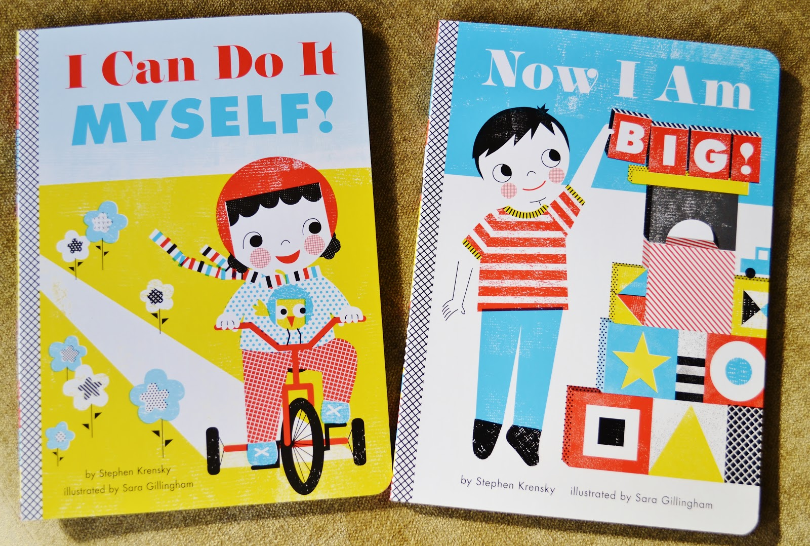 Julias bookbag super cute baby board books well looky look look what i found at target the other day i can do it myself and now i am big by stephen krensky and sara gillingham these babies solutioingenieria