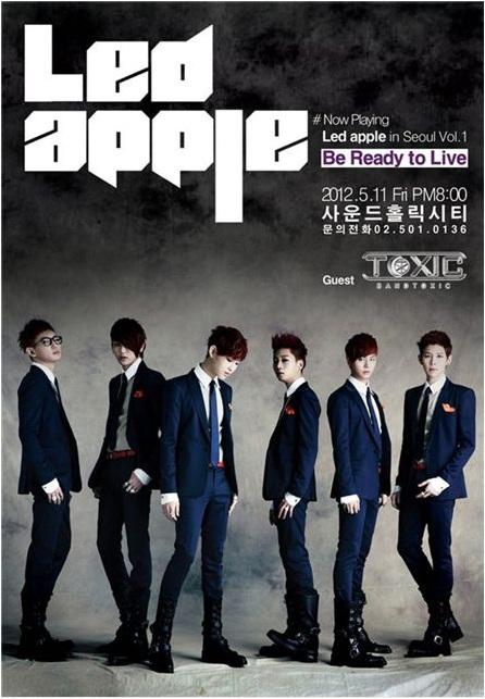 LED APPLE cercano a su primer concierto en SEOUL el proximo mes. LEDApple