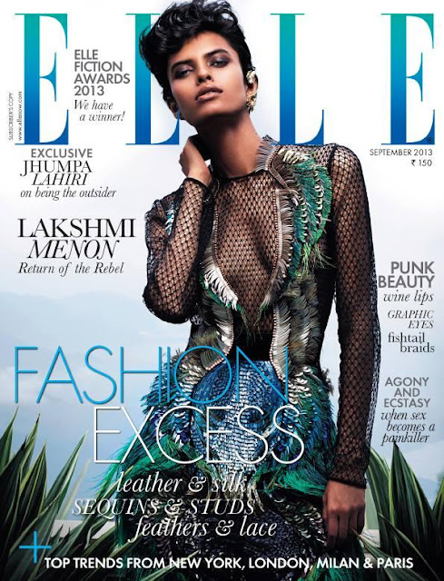 Return of Rebel: Supermodel Lakshmi Menon on the cover of Elle