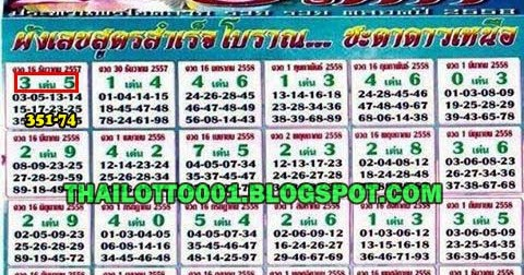Thai lottery non miss yearly paper e 01 02 2015 thai lottery 007