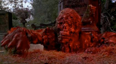 A zombie rising from the grave in Romero's Creepshow
