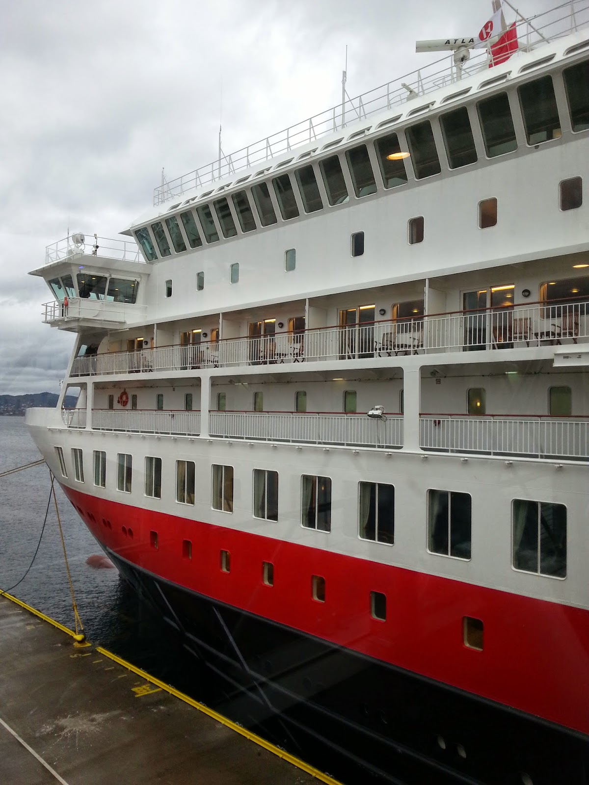 Hurtigruten MS Finnmarken in Bergen, Norway