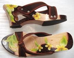 Sandal Wanita Murah Bandung Love Pita Coklat