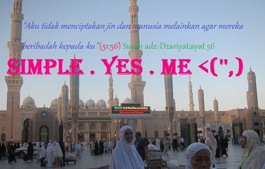 Assalamualaikum. Welcome to my site. It's me. And I'm simple :)