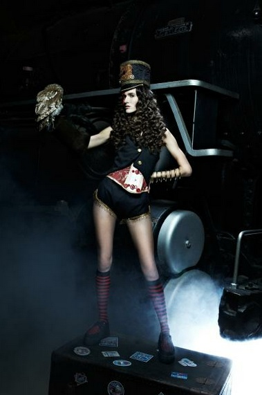 antm steampunk train owl red lace mask lacedandwaisted