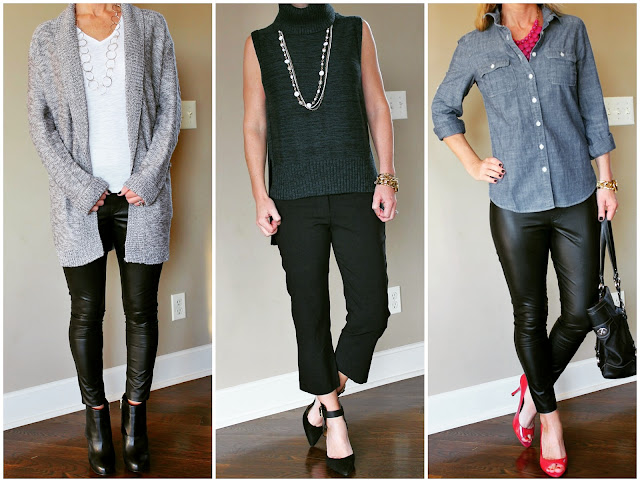 outfit ideas, what to wear, how to wear leather leggings
