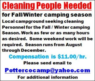Cleaning People Needed