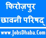 Ferozepur Cantonment Board Recruitment, JobsDhaba.Com, Sarkari Naukri