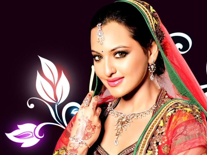 Bollywood Indian Actress Sonakshi Sinha Dulhan HD Wallpaper