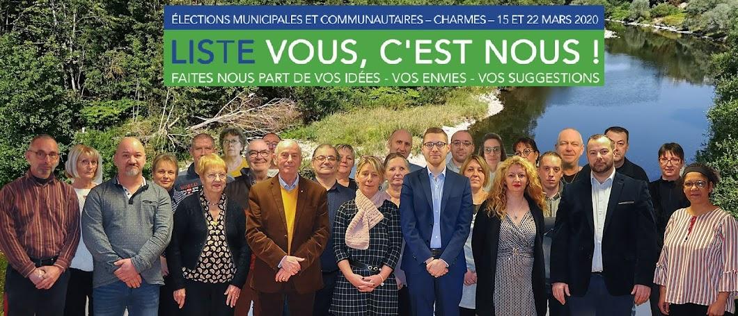 Charmes 2020 - Liste Vous, C'est Nous !