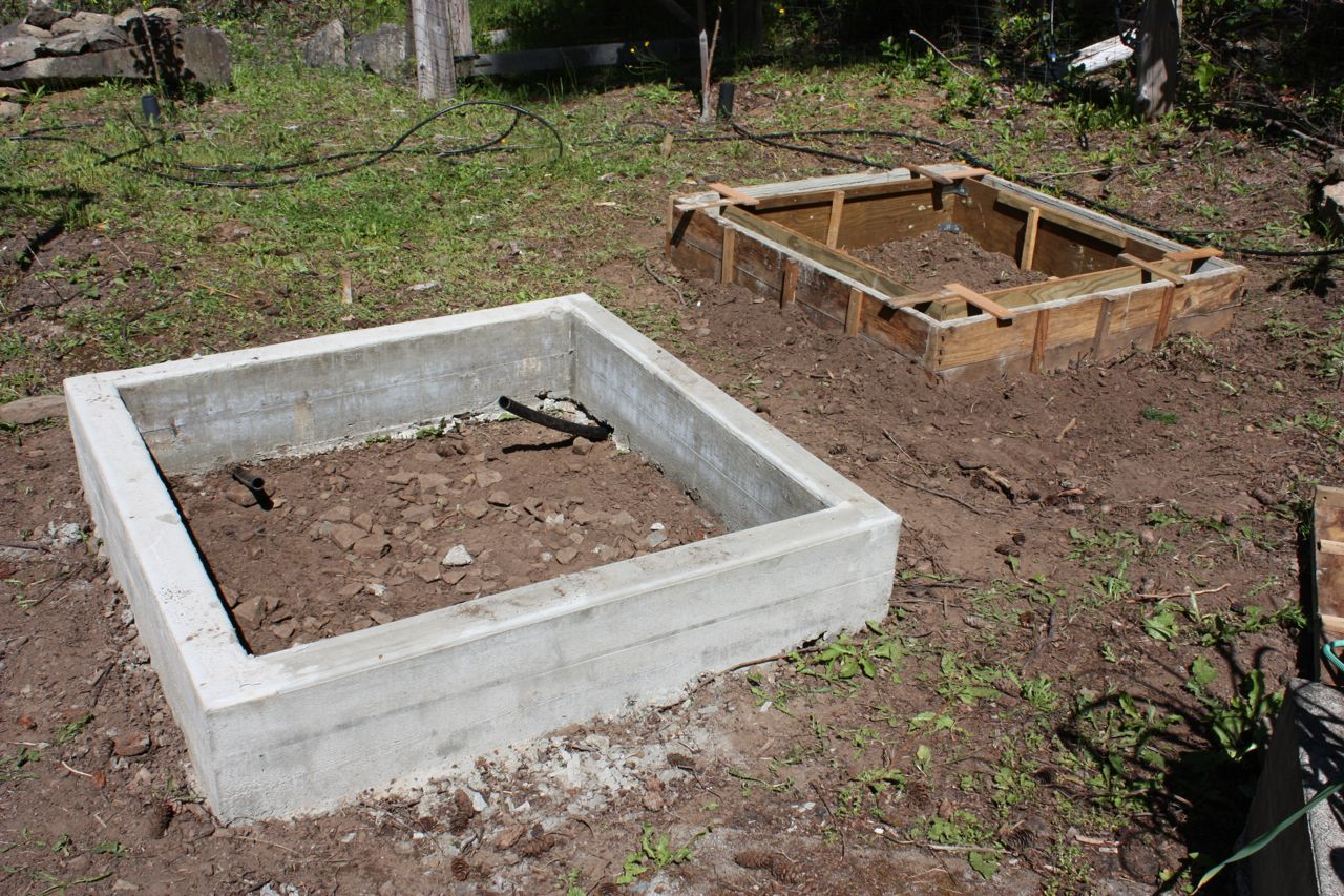 how to build raised garden bed on concrete