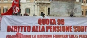 NELLA PROSSIMA LEGGE DI STABILITA' SI PARLERA' DI RIFORMA PENSIONISTICA