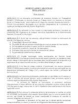 Nomenclador y Aranceles para profesionales
