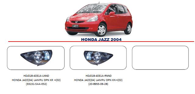 Bodypart Honda Jazz 2004