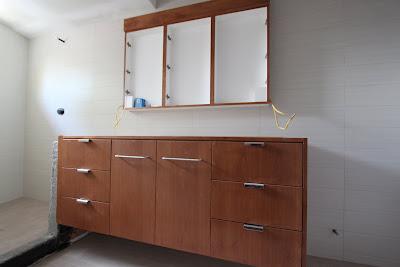 mid-century modern bathroom cabinet