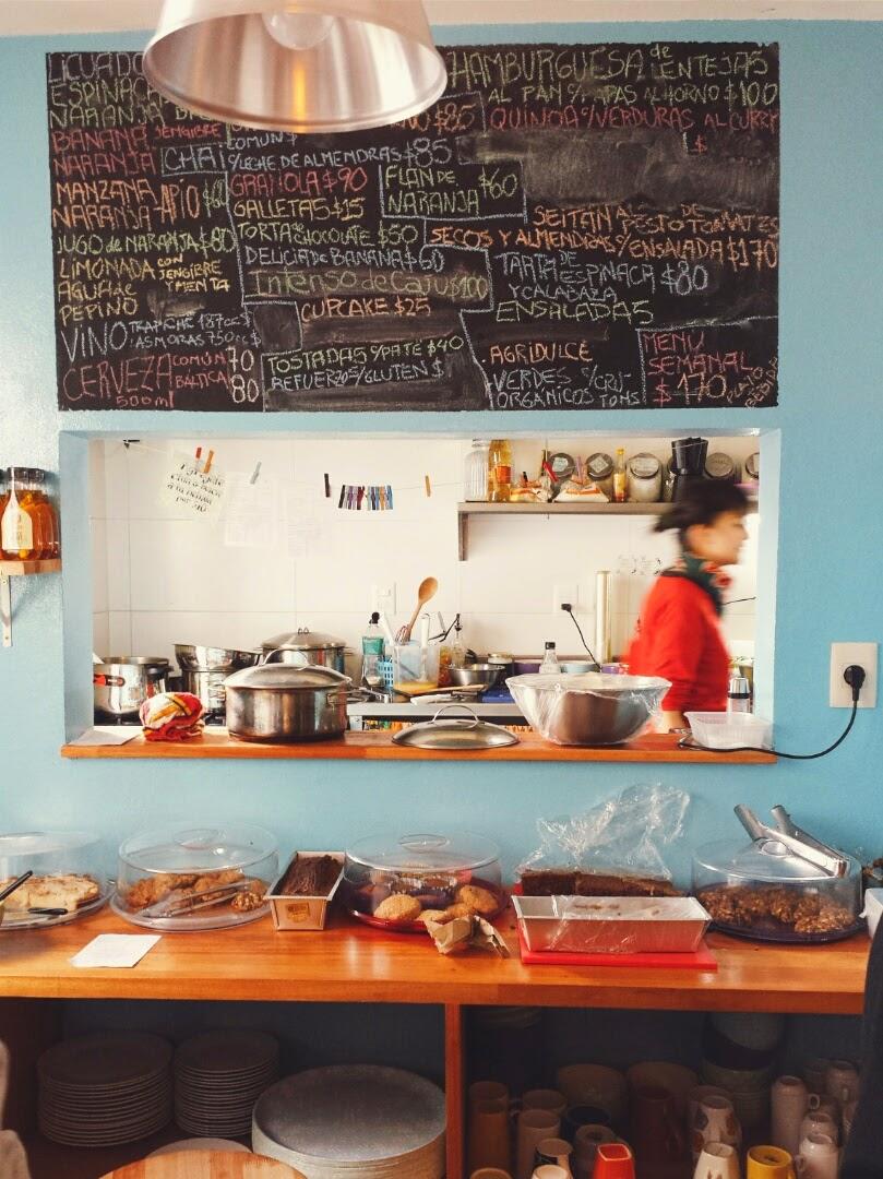 Restaurante vegetariano em Montevideu