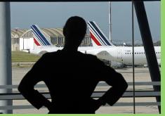 Air France confirma la anulación del 60% de sus vuelos para hoy por huelga de pilotos