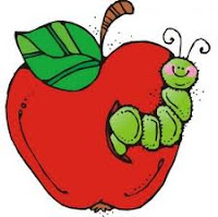 Apple in Worm Clip Art
