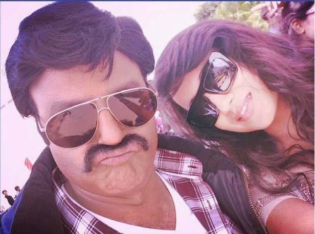 Bala Krishna ,Trisha Self Photos At Lion Movie Shooting