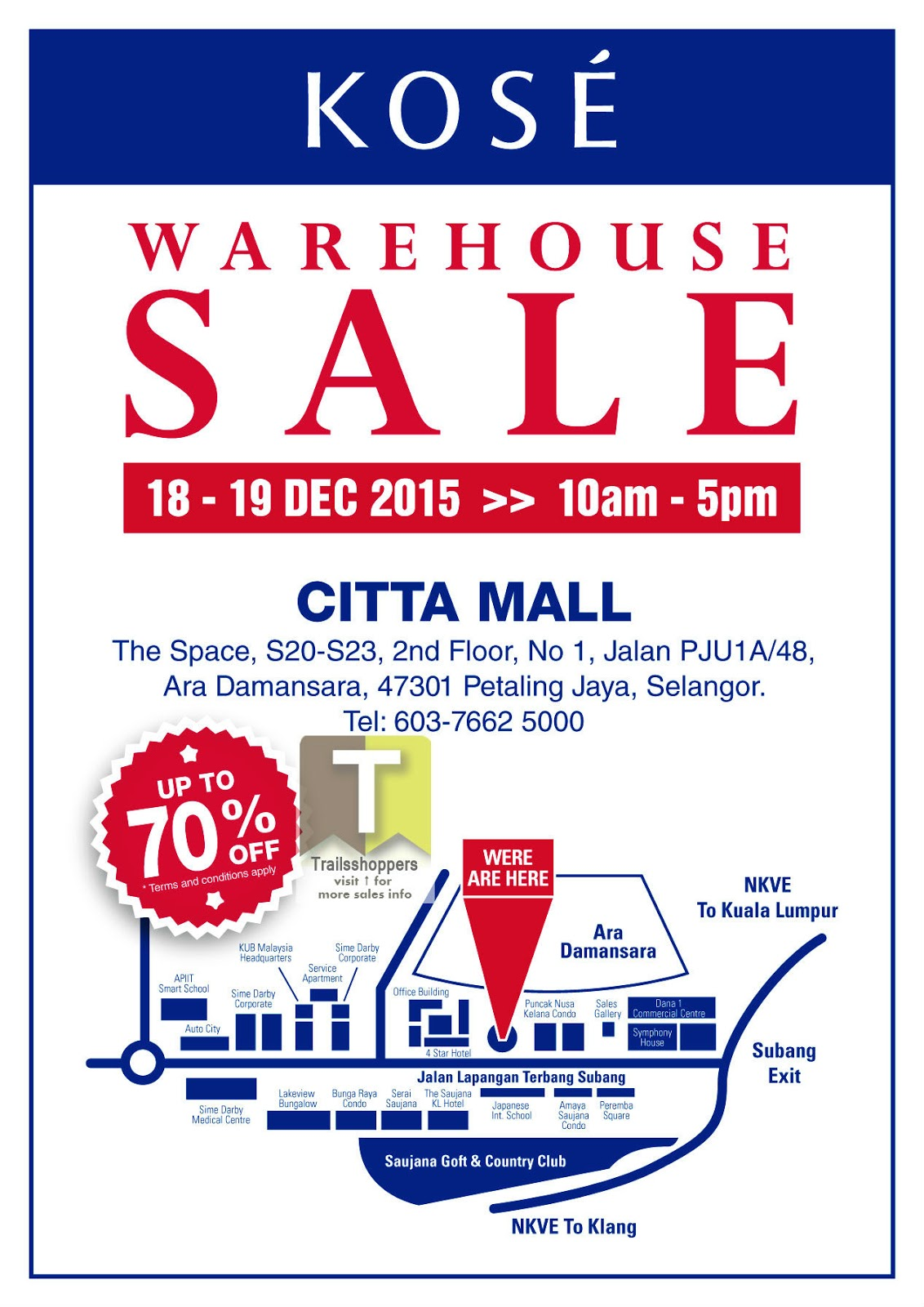 KOSE Warehouse Sale 2015 pj ara damansara