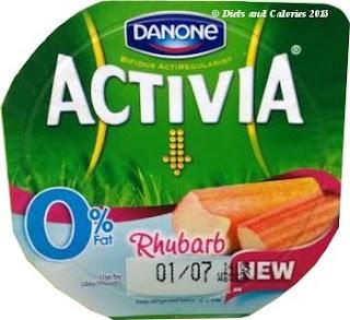 Danone Activia Fat Free Rhubarb yogurt