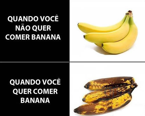 bananas boas e podres