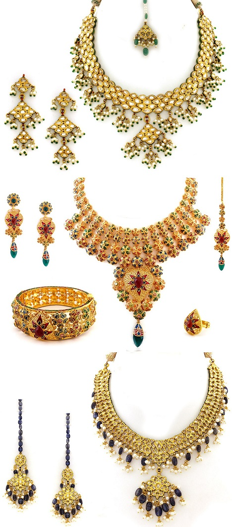 indian and wedding jewelry dress and make up