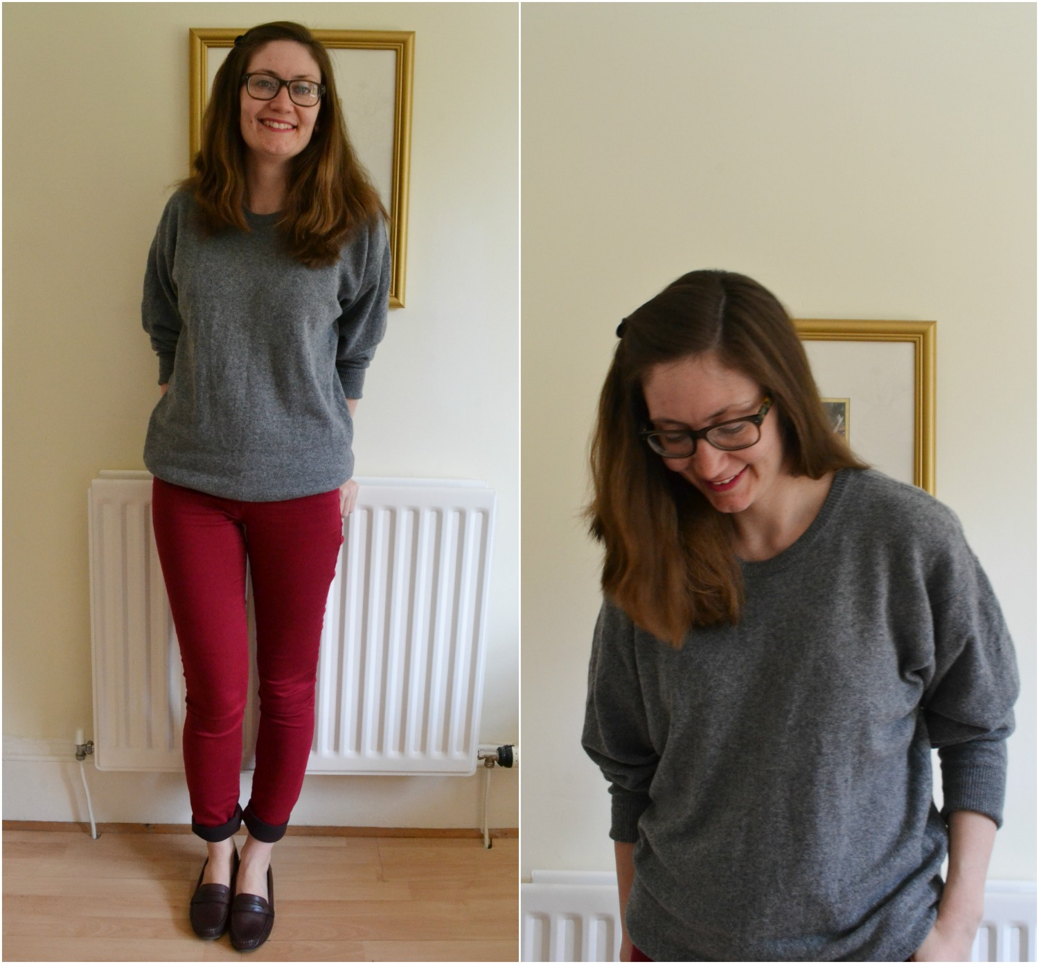 red jeans long tall sally wool sweater EWM