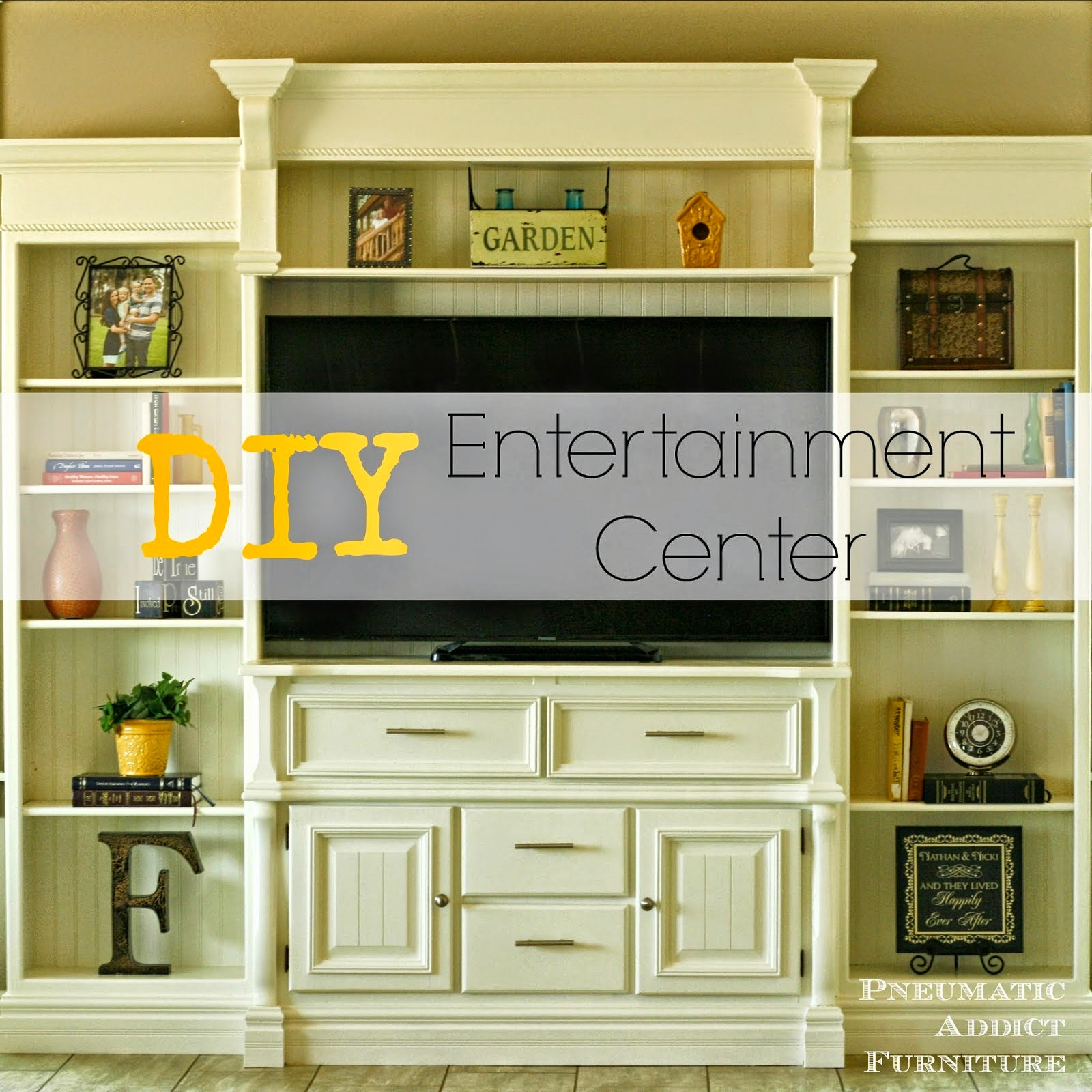 Pneumatic Addict shared her Diy Entertainment Center featured at One MoreTime Events.com