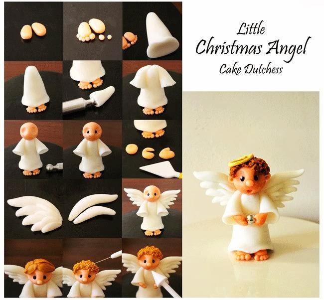 Как сделать ангела из мастики