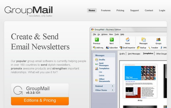 GroupMail email newsletter software