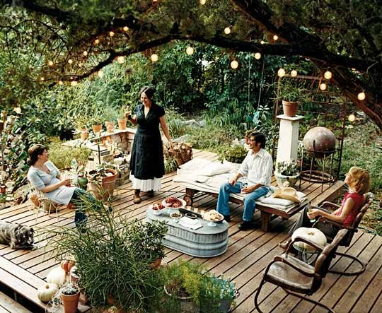 My decor education pinterest inspiration chic inner for Summer backyard decorating ideas