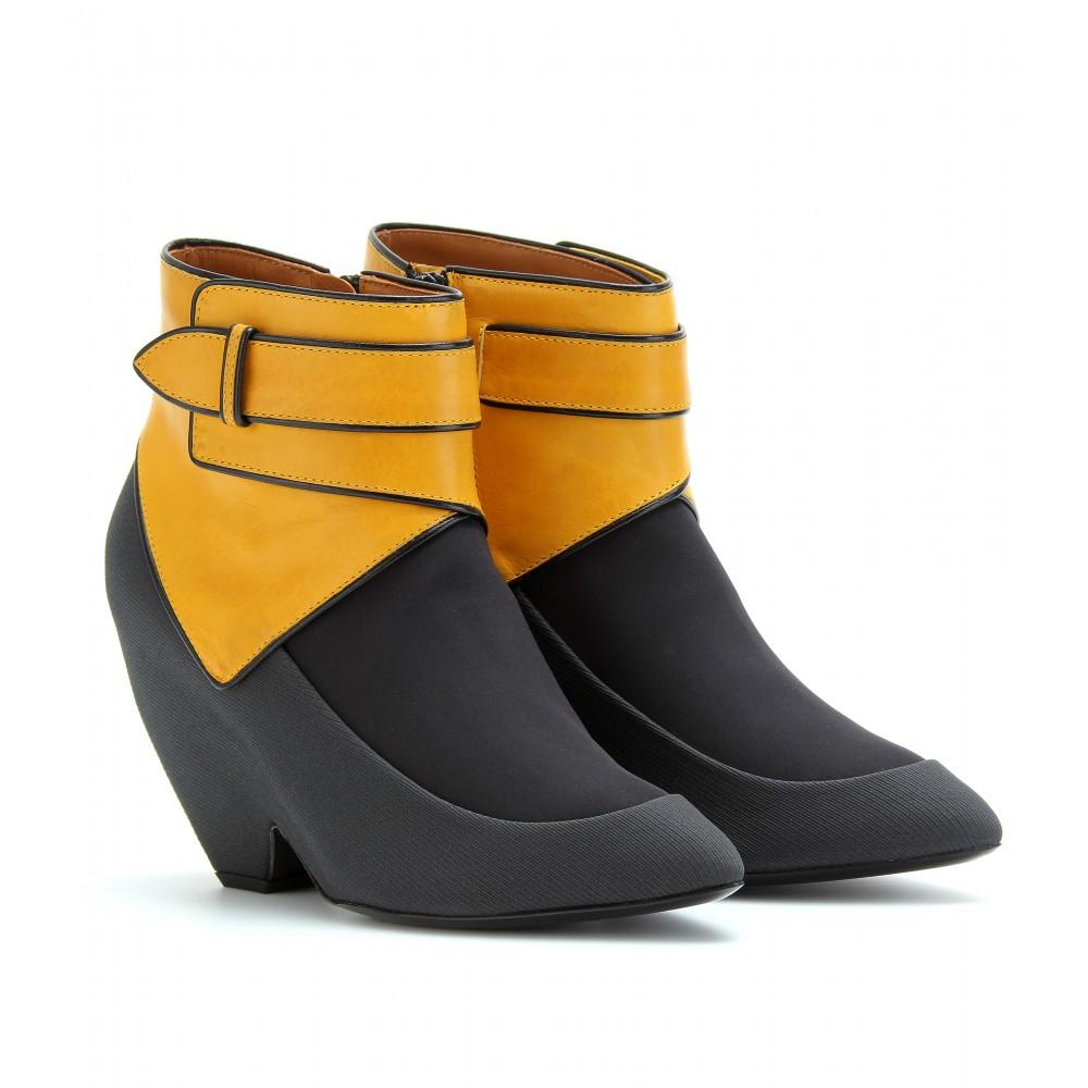 the wawidoll fashion files balenciaga color block ankle boots