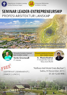 Seminar Leader-Entrepreneurship Profesi Arsitektur Lanskap