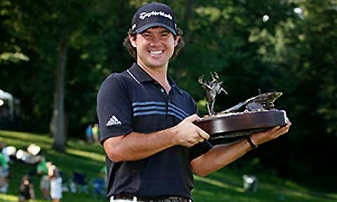 Brian Harman with Deere trophy