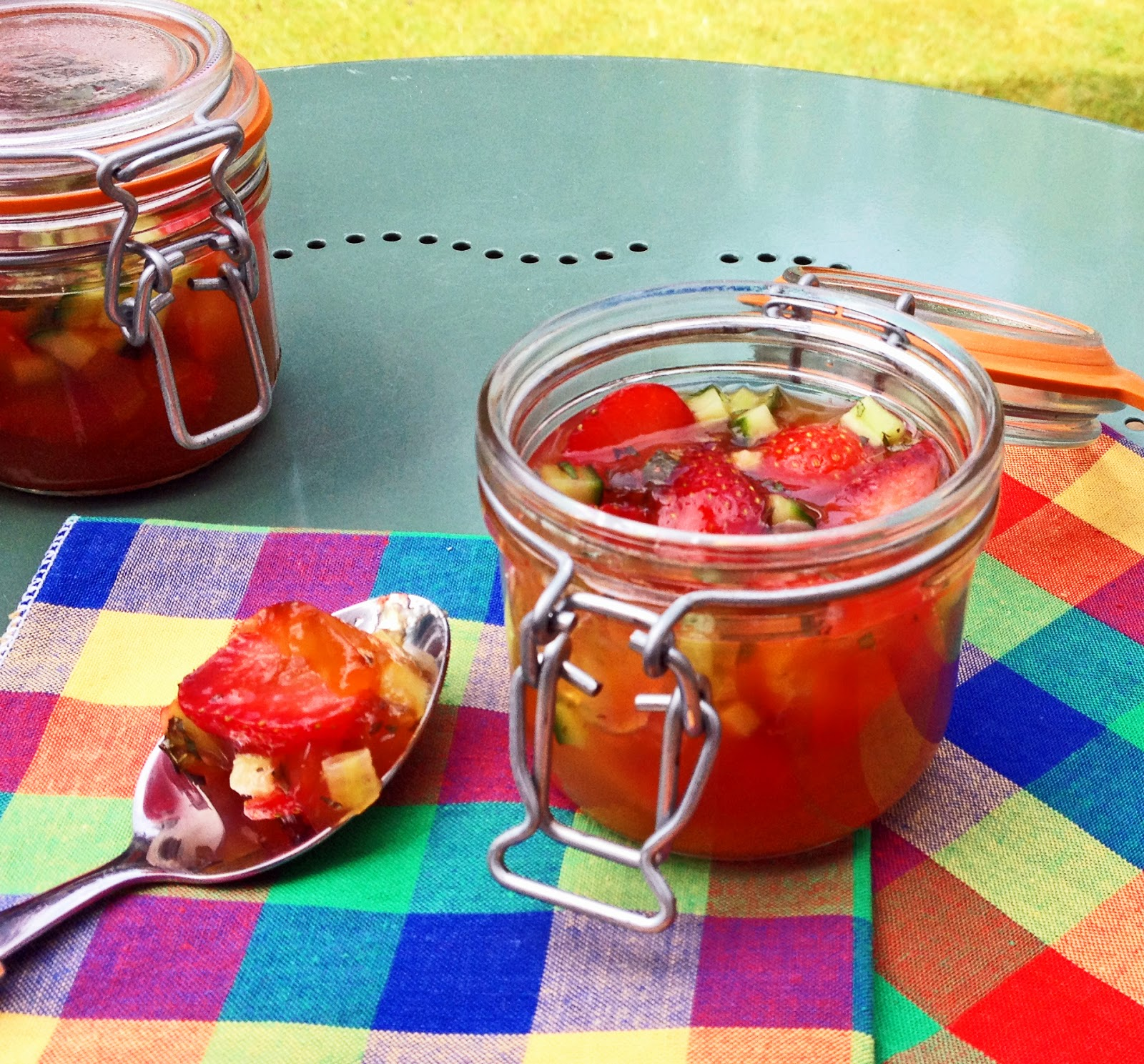 Pimm's jelly jars - fruity and refreshing