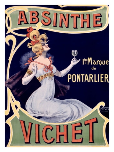 Absinthe Vichet poster from 1896 - a quintessential Art Nouveau poster ...