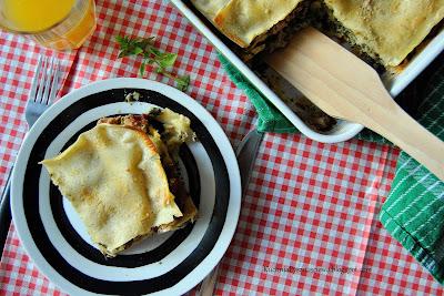365. Lasagne ze szpinakiem i indykiem
