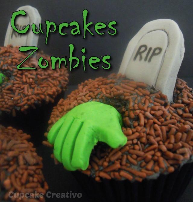 Tutorial Cupcakes Zombies, Mano Zombie, Tumba RIP