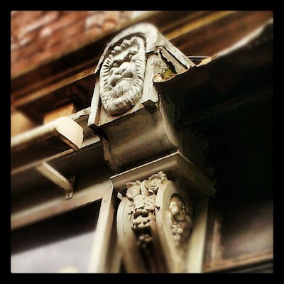 Lion Architectural detail in Leeds