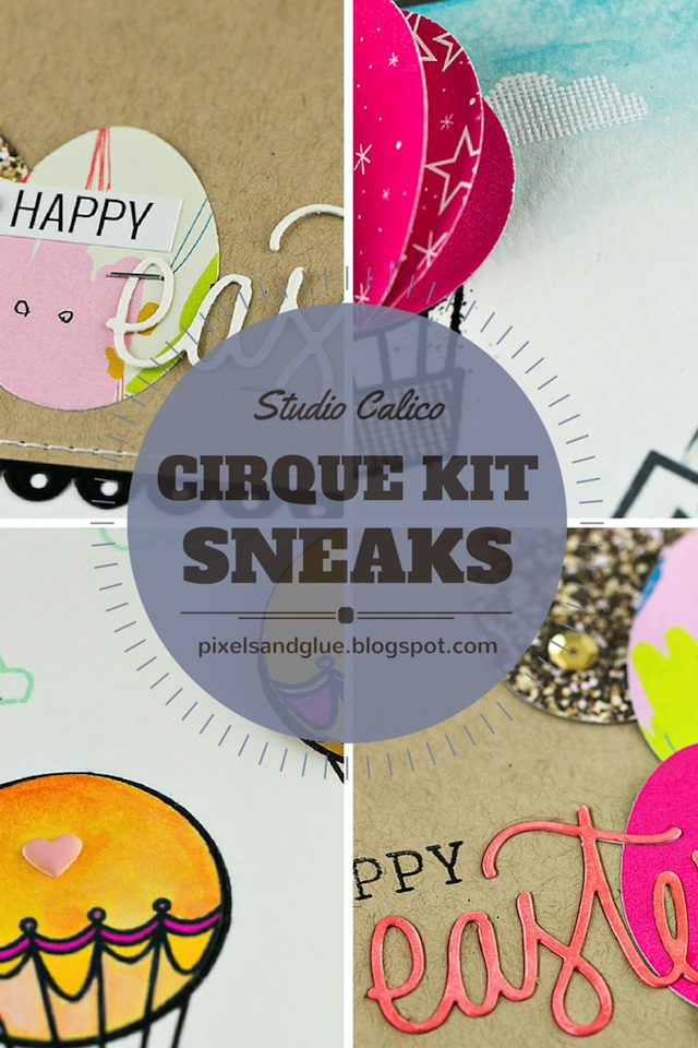 Studio Calico Cirque Card Kit Sneaks by @pixnglue