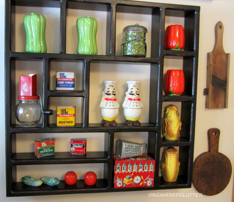 Chefs in the kitchen organized clutter - Salt and pepper shaker display case ...