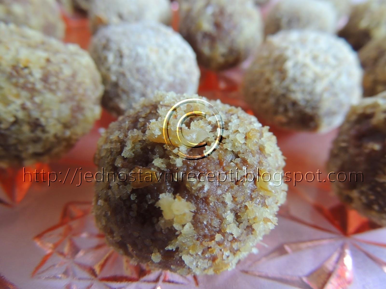Jafa kuglice sa mlevenim keksom
