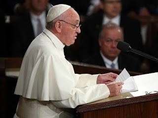 Pope Francis addressing Congress