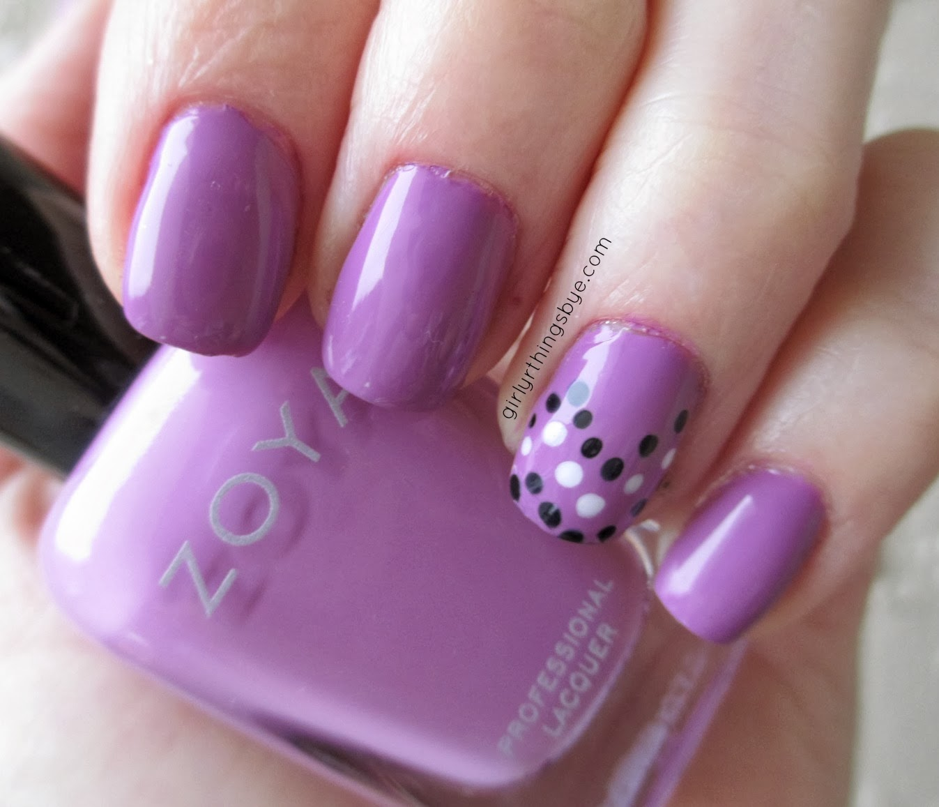 Zoya Perrie, swatch, radiant orchid, @girlythingsby_e
