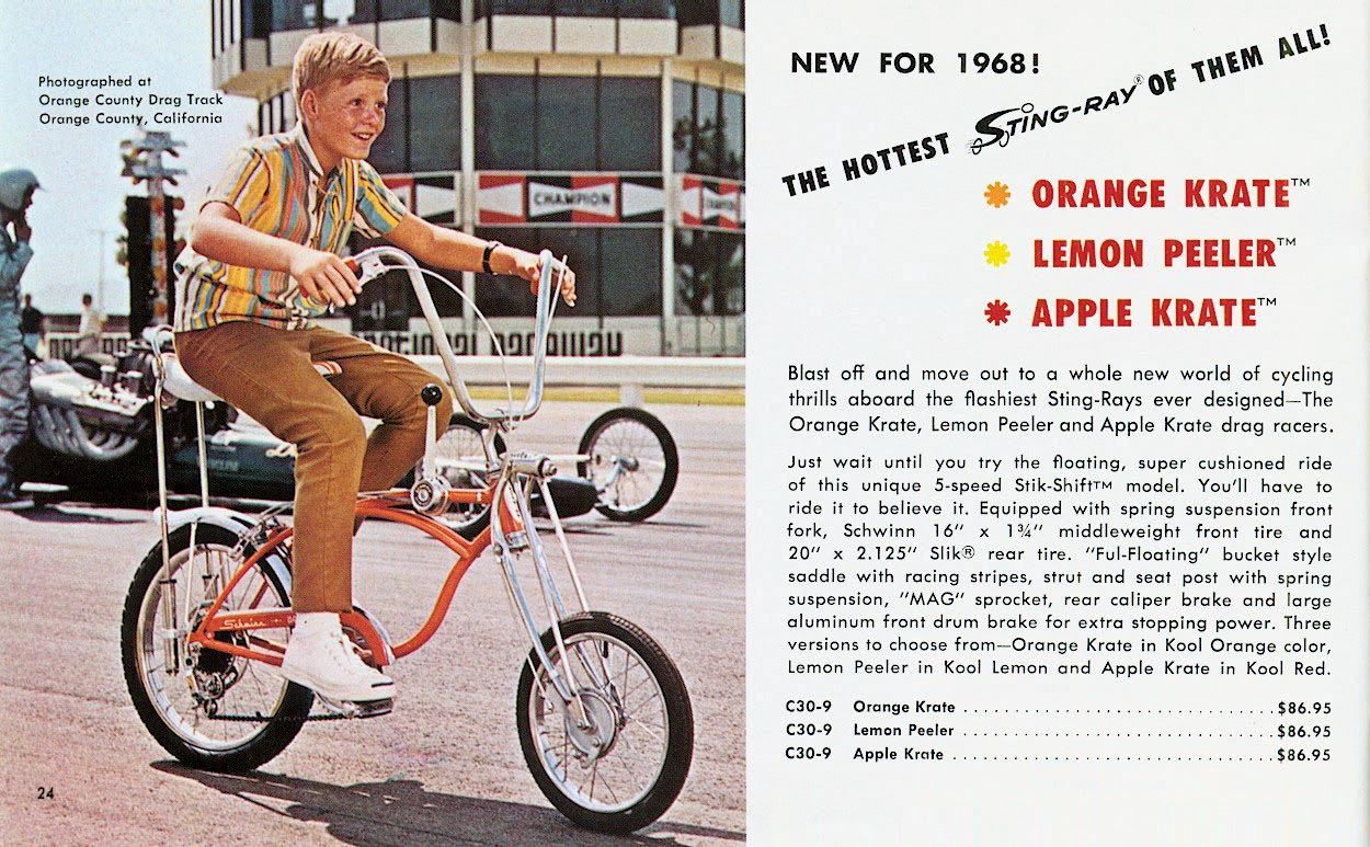 70s Dragsters http://justacarguy.blogspot.com/2011/09/sting-ray-most-desired-bike-for-kids-in.html