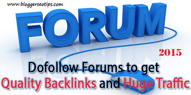 List of High Page rank Dofollow forums –