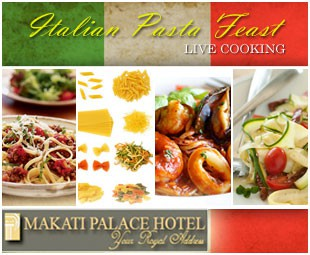50 off pay only p225 instead of p450 for Q kitchen pasta buffet
